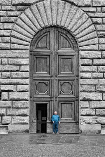 Portada del Palazzo Pitti